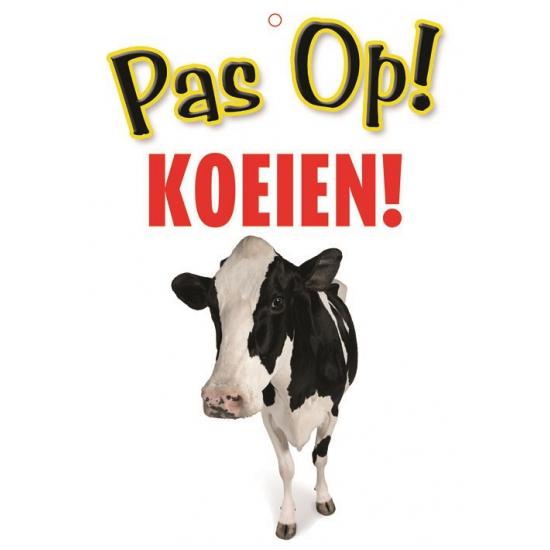 Waakbord pas op koeien