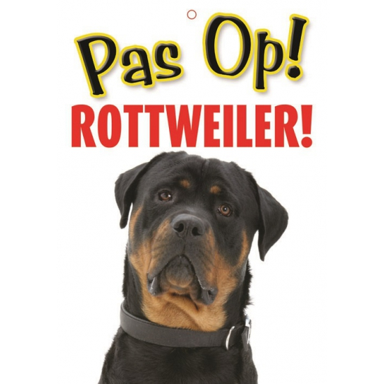 Waakbord Rottweiler hond