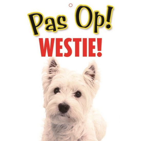Waakbord West Highland white terrier hond