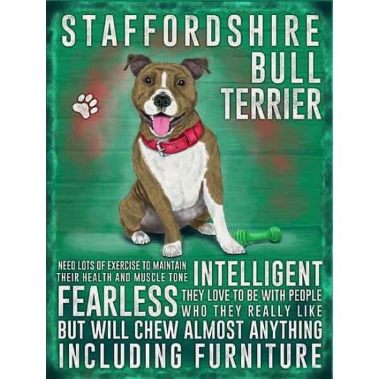 Wand bord Bull Terrier 30 x 40 cm