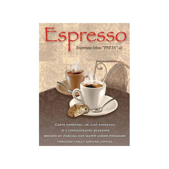 Wand bordje Espresso 30 x 40 cm