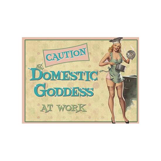 Wandplaat Domestic Goddess