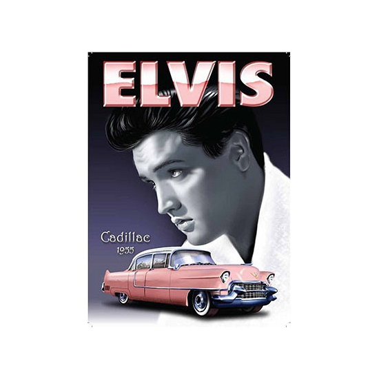 Wandplaat Elvis Cadillac 1955