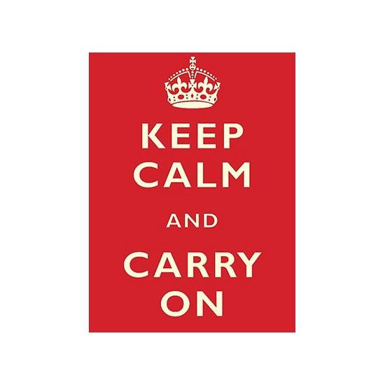 Wandplaat Keep Calm and Carry On