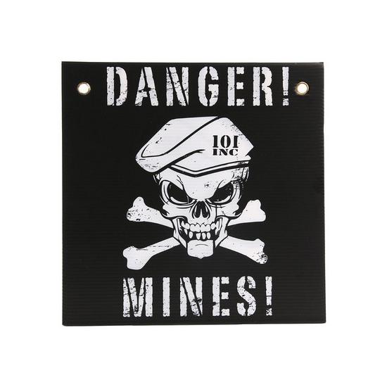 Wandplaatje danger mines 30x30