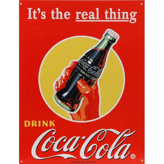 Wandplaatje frisdrank Coca Cola 32 x 41 cm
