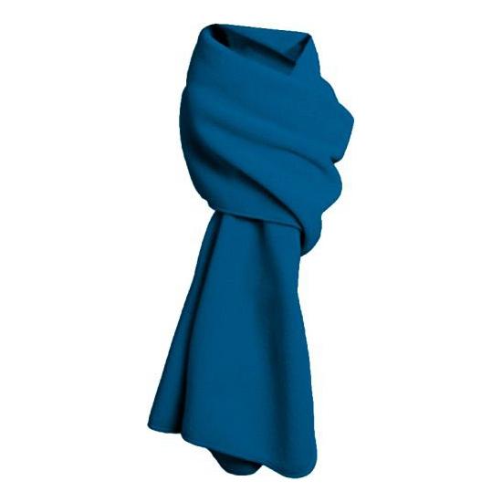 Warme fleece sjaals kobalt blauw