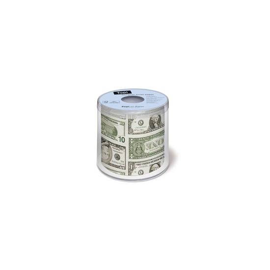 WC rol met Dollar biljetten