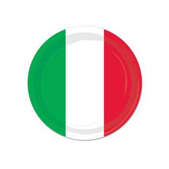 Wegwerp borden Italie 8 stuks