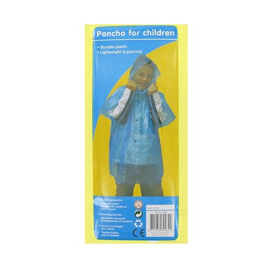 Wegwerp regen poncho voor kids