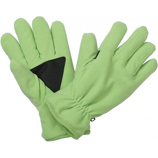 Winter fleece handschoenen lime groen