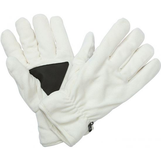 Winter fleece handschoenen off white
