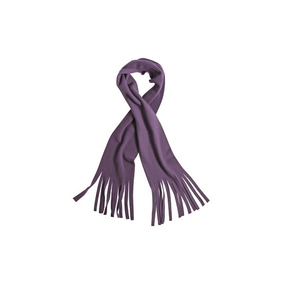 Winter fleece sjaal met franjes paars