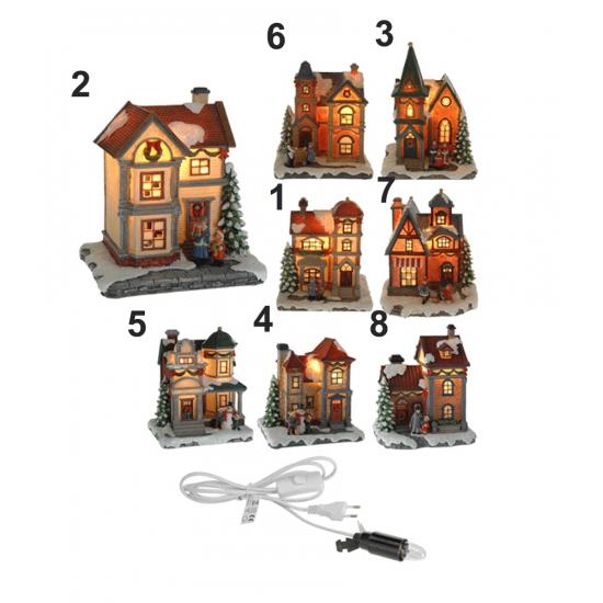 Winter huisje met LED lampje Nr. 2