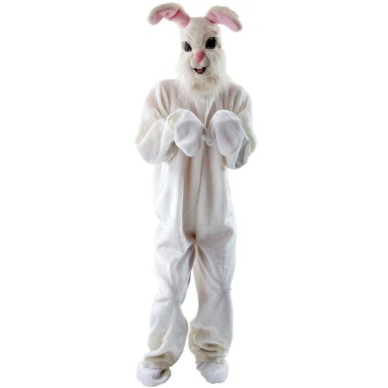 Wit konijnen pak voor volwassenen