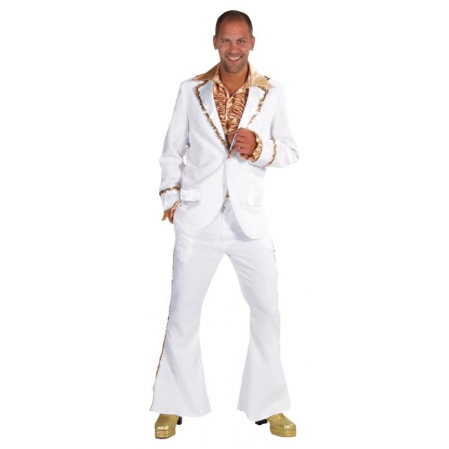 Wit seventies kostuum heren