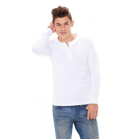 Wit shirt voor heren met knoopjes wit