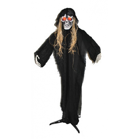 Wit spook skelet 150 cm