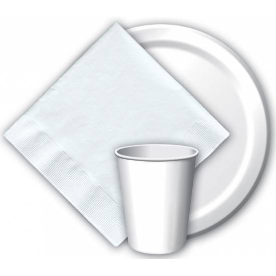 Witte bekertjes 266 ml