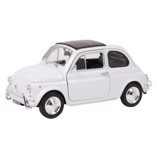 Witte Fiat Nuova 500 model auto