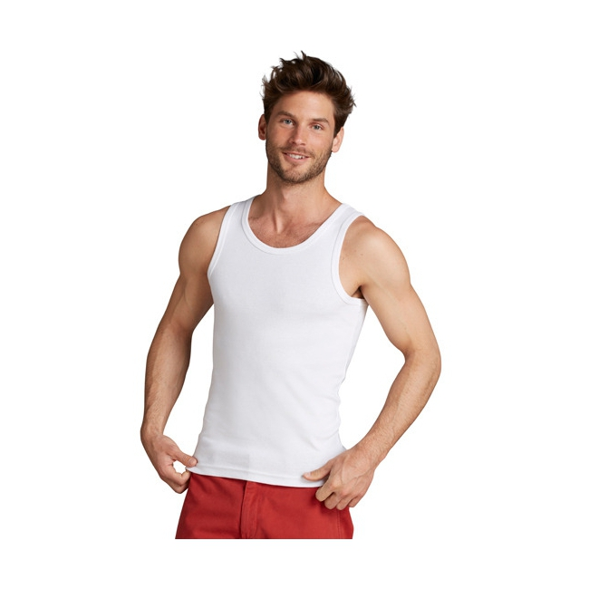 Witte mouwloze heren t shirts