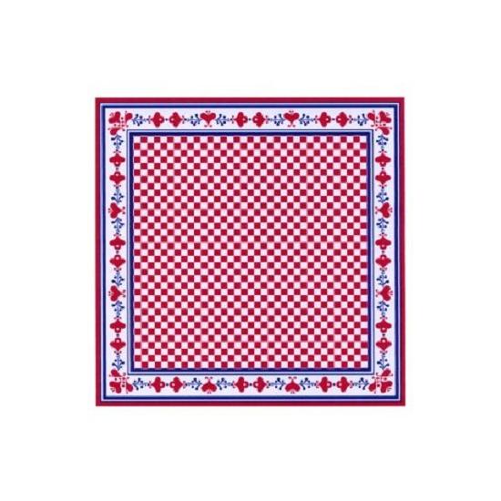 Zakdoek rood dubbelzijdig bedrukt