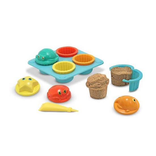 Zandtaartjes speelgoed set cupcake