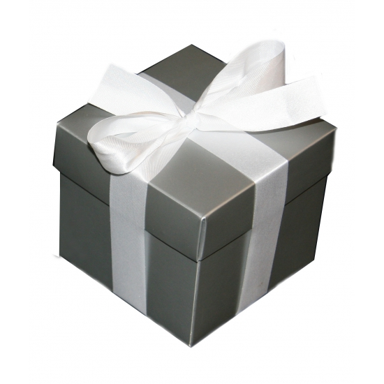 Zilveren decoratie doosje 10 cm