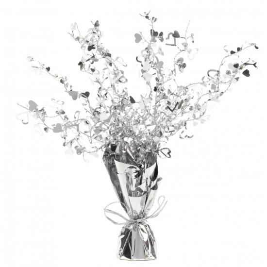 Zilveren tafeldecoratie 38 cm