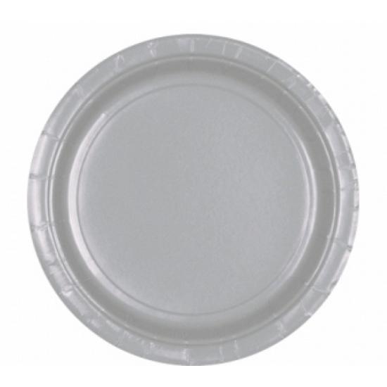 Zilveren wegwerp bordjes