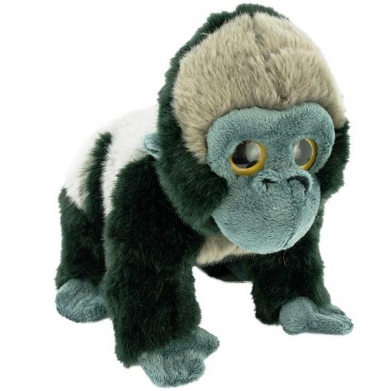 Zilverrug gorilla knuffeldier 33 cm