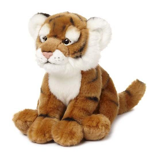 Zittende tijger knuffel van het WNF