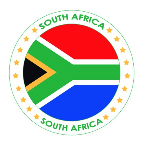 Zuid Afrika vlag print bierviltjes