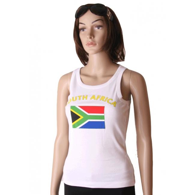 Zuid Afrikaanse vlag tanktop   singlet voor dames