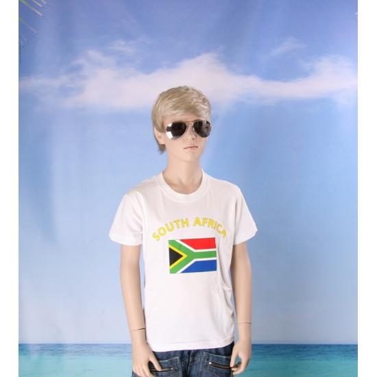 Zuid Afrikaanse vlaggen t shirts voor kinderen