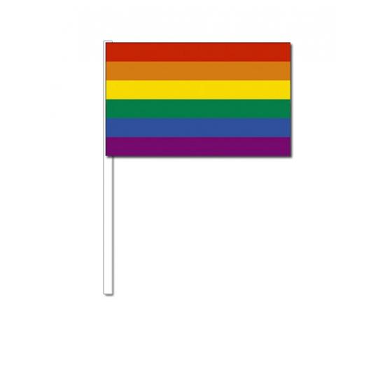 Zwaaivlaggen met regenboog
