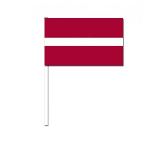Zwaaivlaggetjes Letlandse vlag