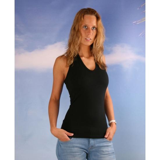 Zwart halter shirt voor dames