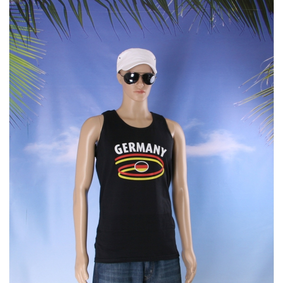 Zwart heren shirtje met Duitse vlag