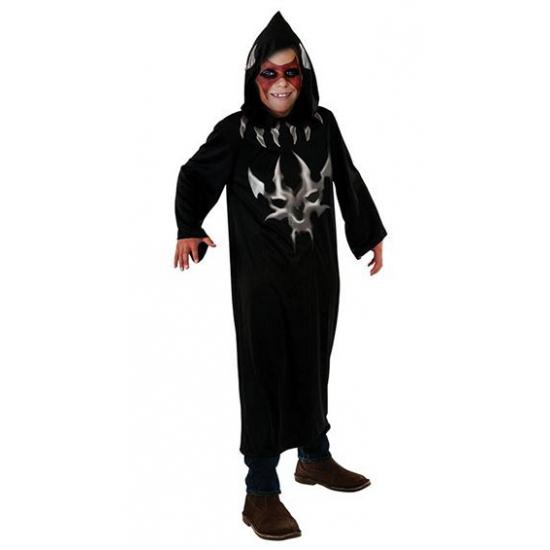 Zwarte duivel verkleed jurk voor kinderen