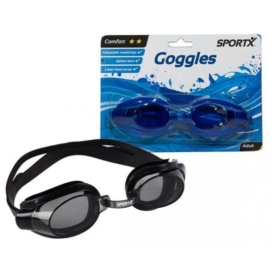 Zwarte schuimparty bril voor volwassenen