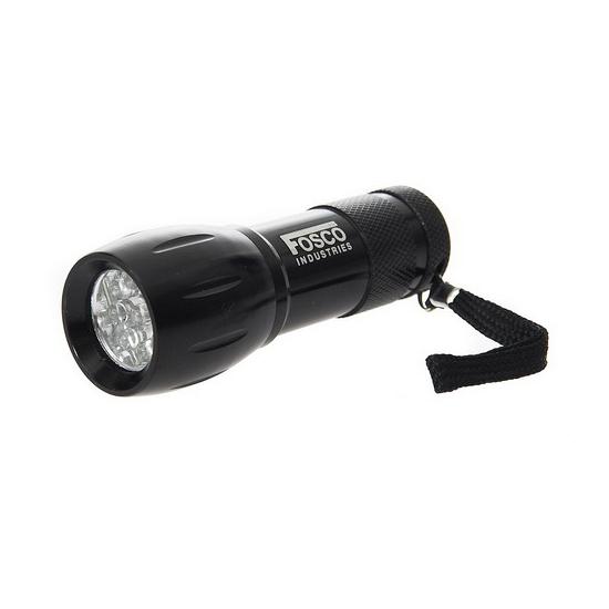 Zwarte zaklamp op batterijen