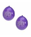8 stuks 50 jaar party ballonnen