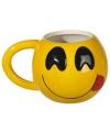 Koffiemok emoticon met tong