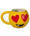 Koffiemok emoticon verliefde