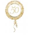 Folie ballon gouden bruiloft 50