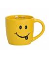 Gele koffiemok met smiley type 1
