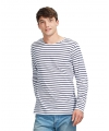 Dorus t-shirt wit met blauw voor heren