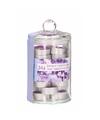 Geurkaarsjes lavendel in glazen pot 24 stuks