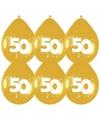 Jubileum versiering Gouden ballonnen 50 jaar